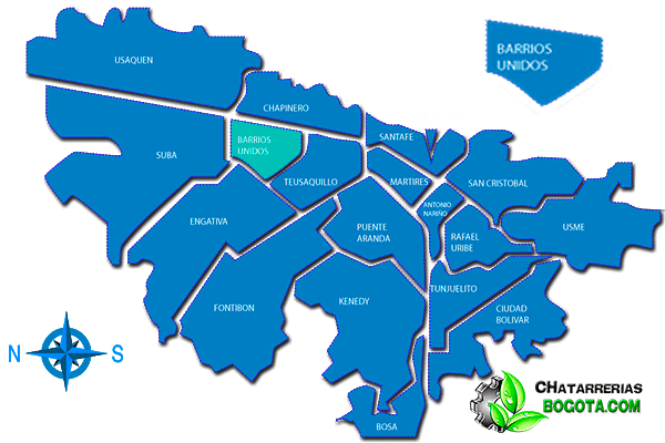 Chatarrerías Bogotá Localidad Barrios Unidos
